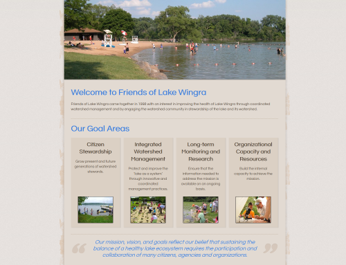 New Website Launch – Friends of Lake Wingra
