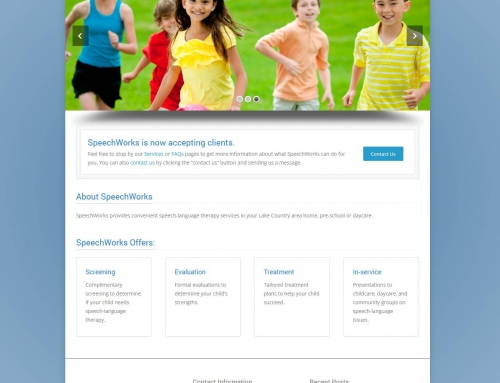 New Website Launch – SpeechWorks