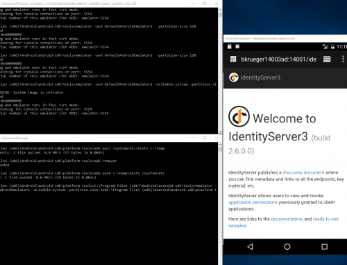 Accessing your machine through machine name with Android Emulator on Windows